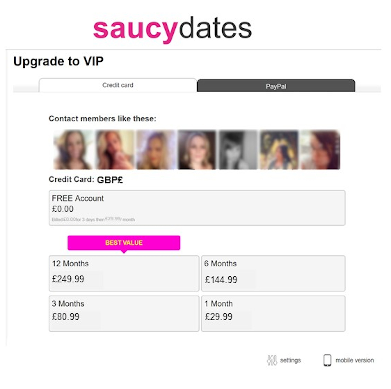 SaucyDates Cost GB