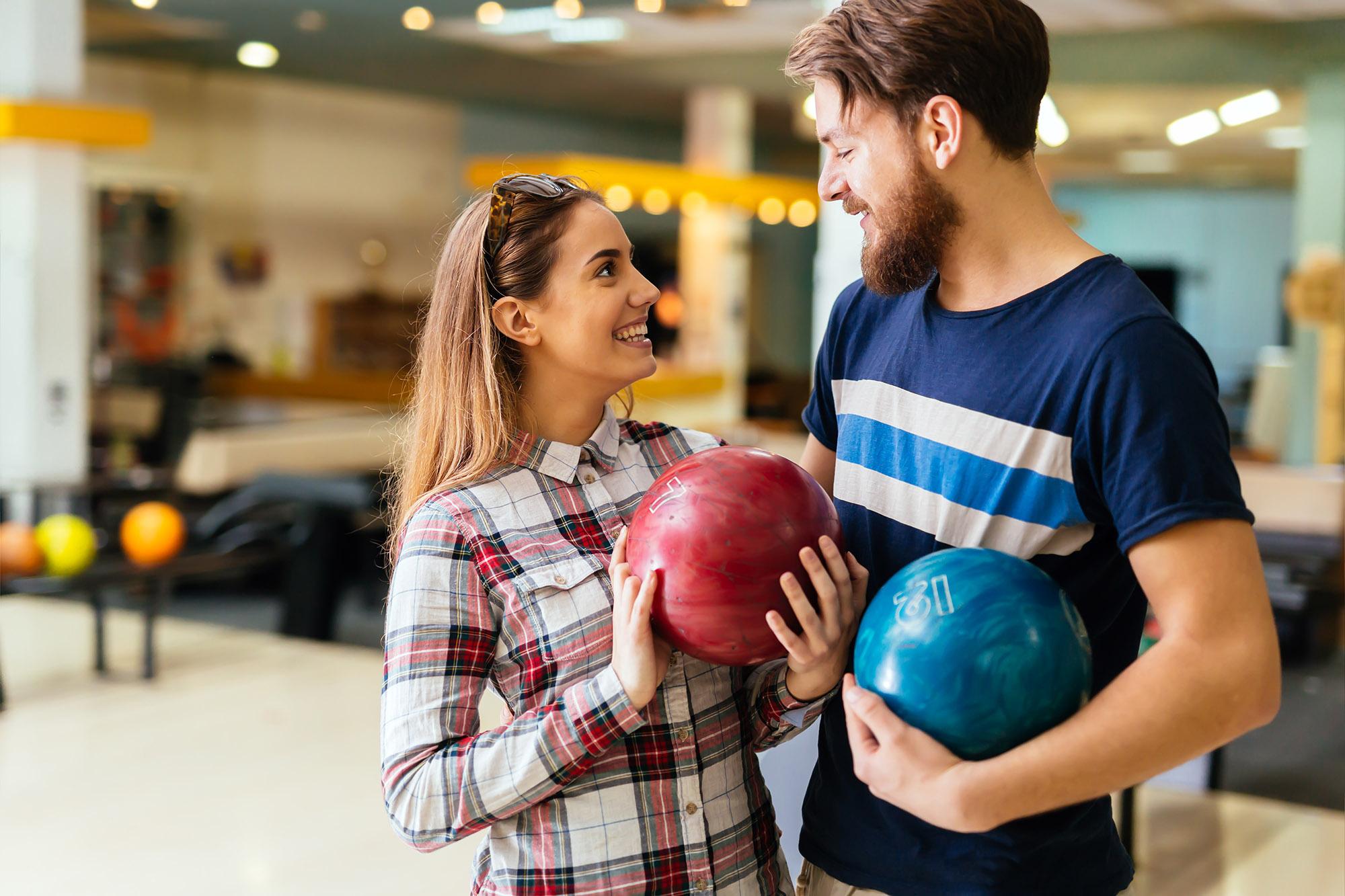 Couple Flirting