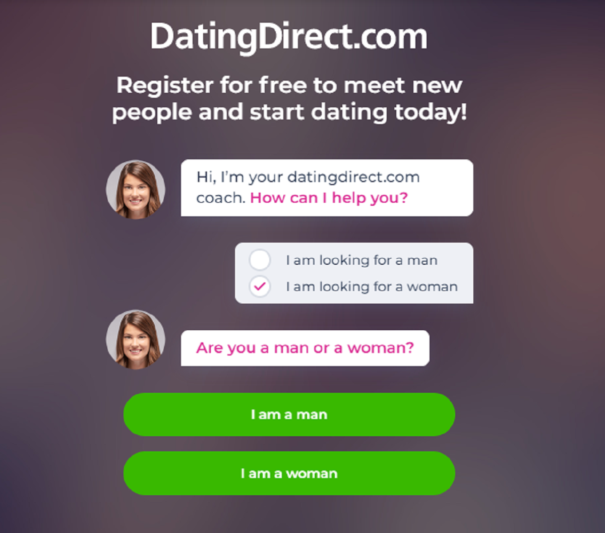 datingdirect registration