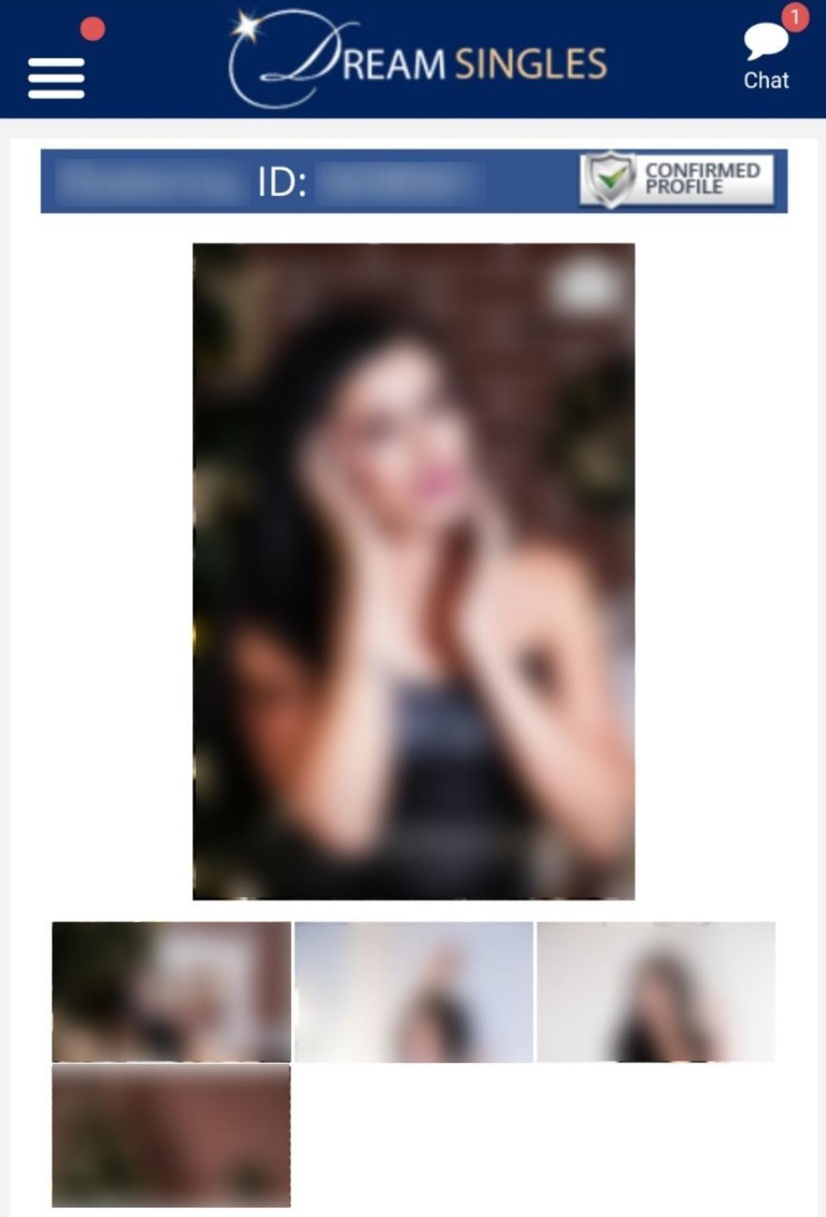 DreamSingles Mobile Female Profile