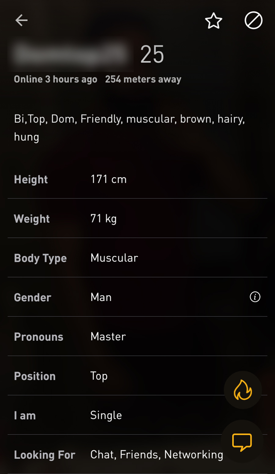 Grindr Male Profile