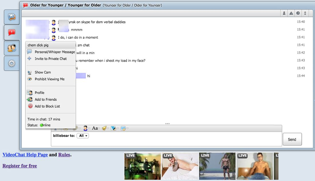 MenChats Contacting Feat