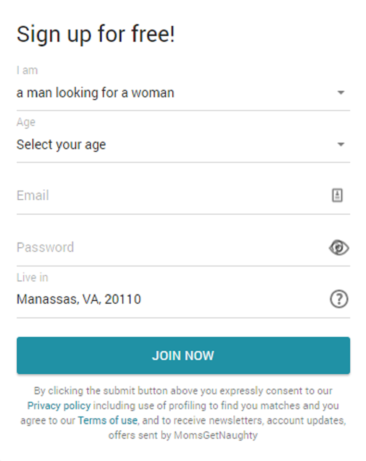 Moms get naughty Registration Form