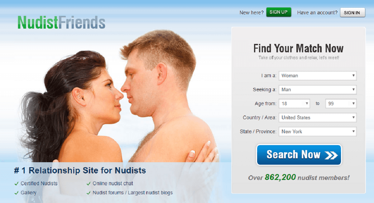 Nudist Friends Registration