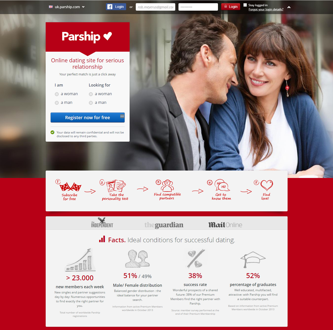 Parship Dating Registration