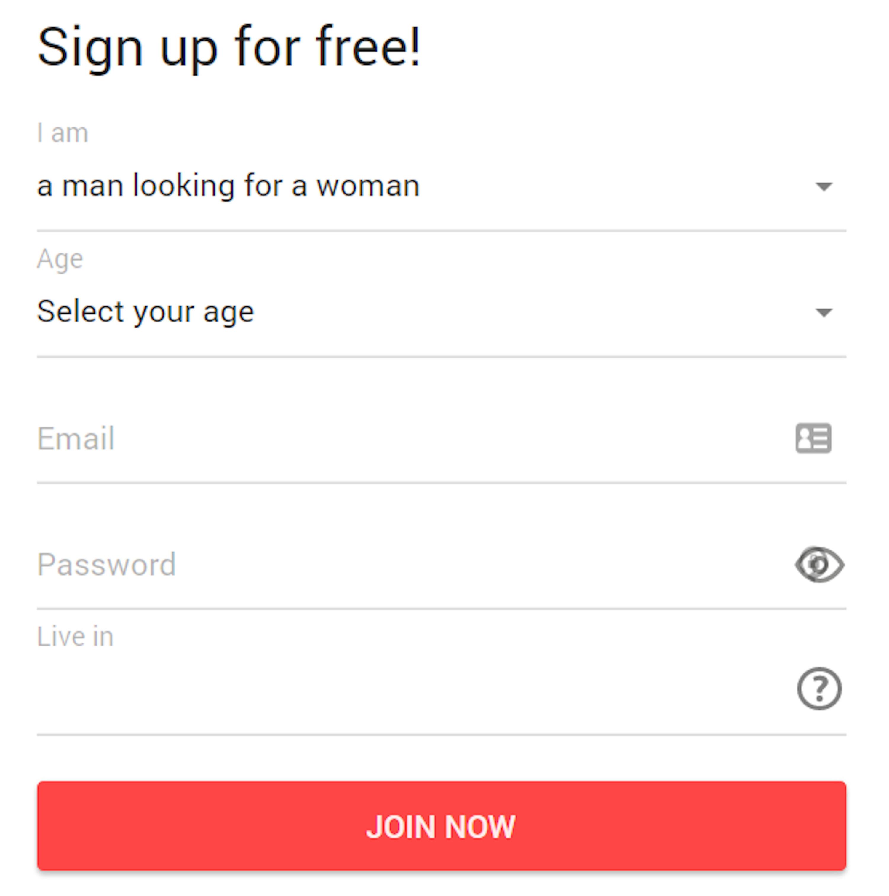 QuickFlirt Sign Up