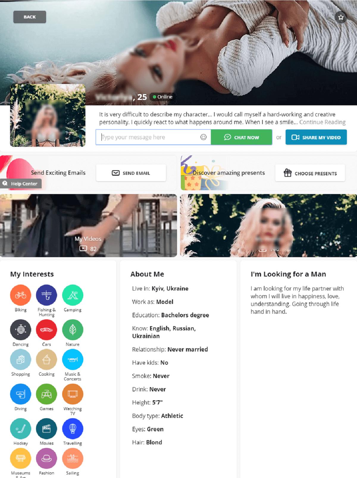 Russian Brides Profile