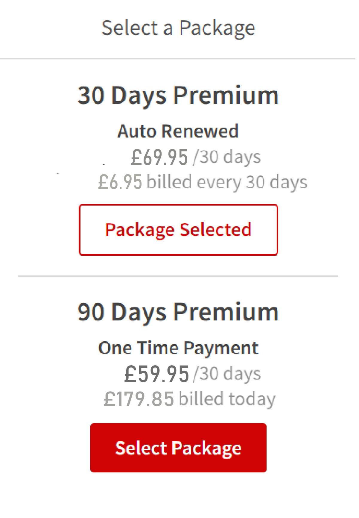 Seeking Arrangement GB Price