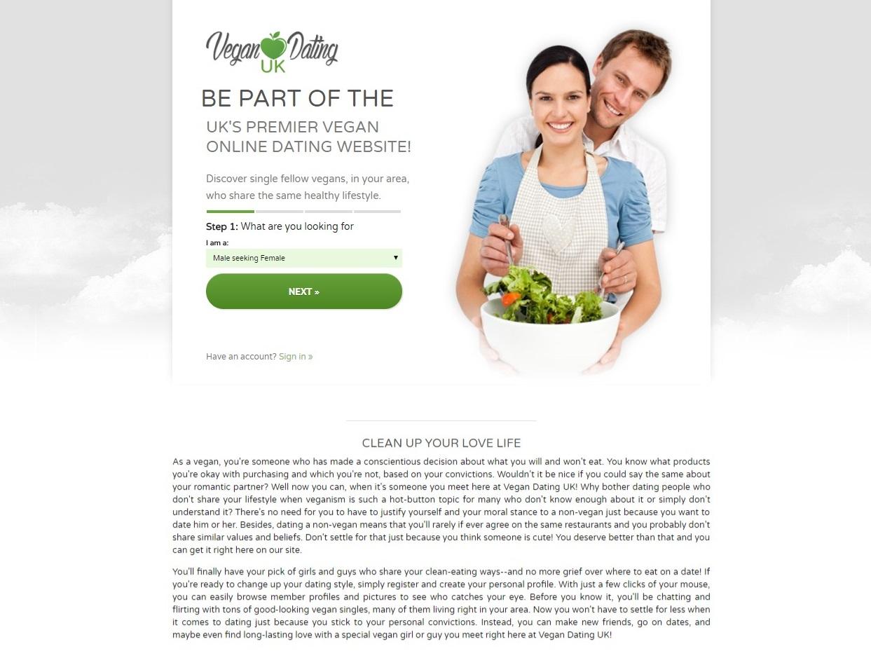 VeganDating Registration