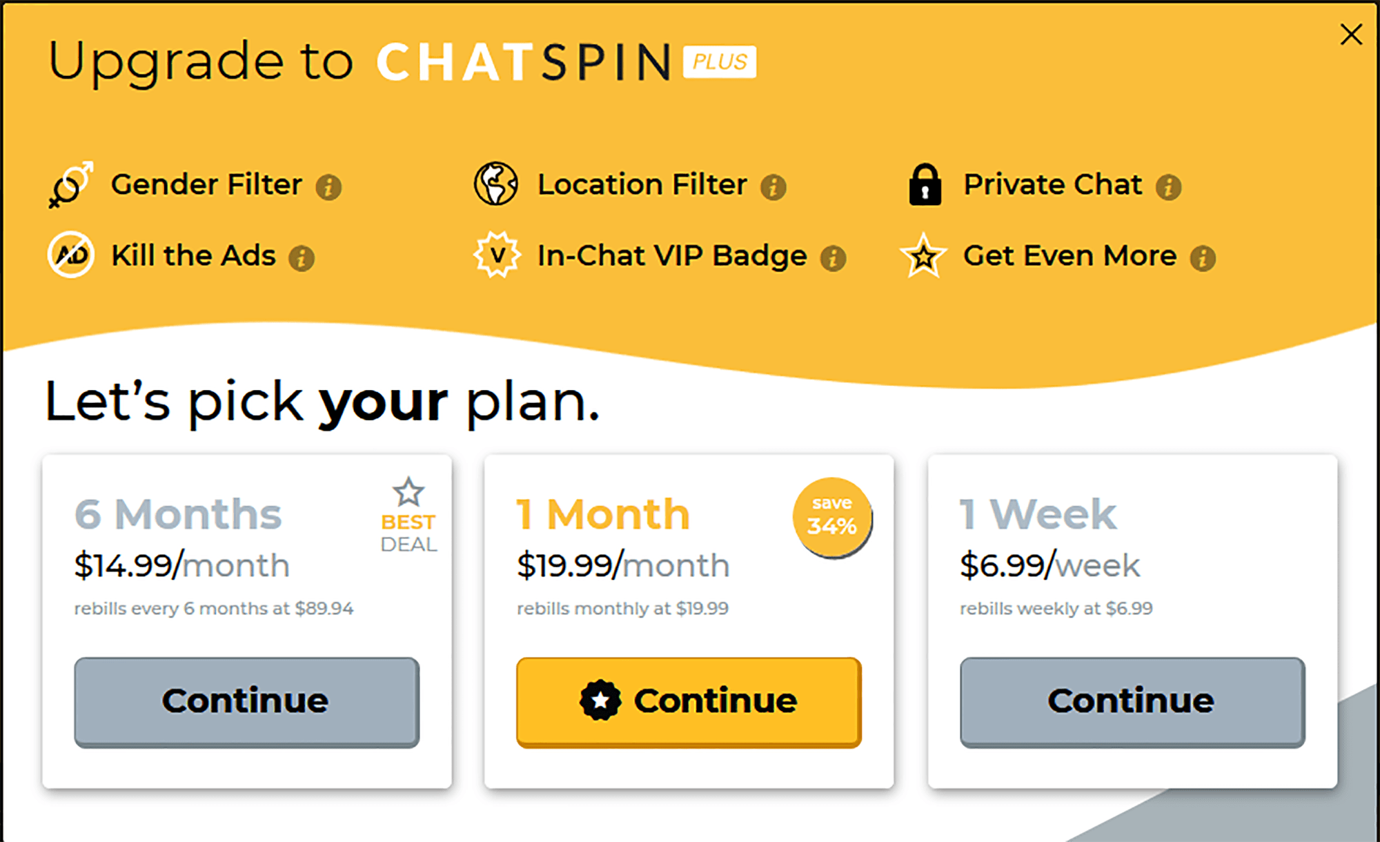 Chat spin plus