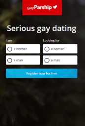 GayParship SignUp Form