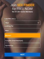 Sexfinder Sign Up