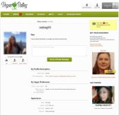 VeganDating Female Profile