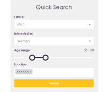 MySingleFriend Quick Search