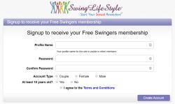 Swing Lifestyle Registration