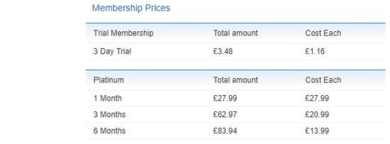 BeNaughty Price GB