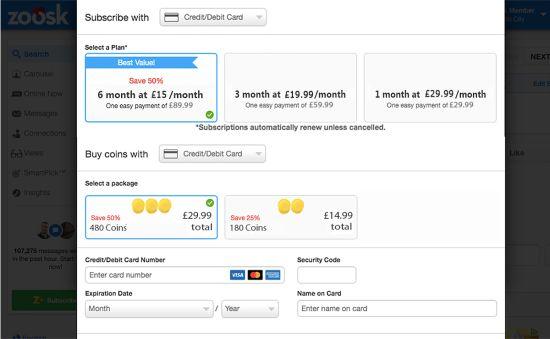 Zoosk UK Price