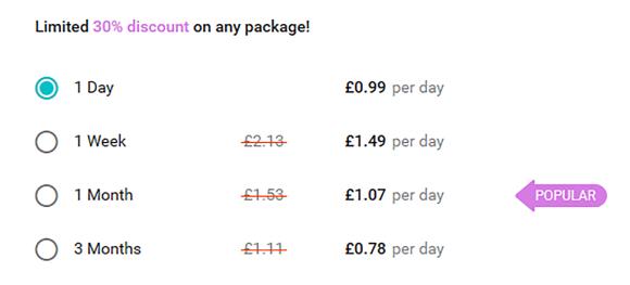 Buddygays UK Price