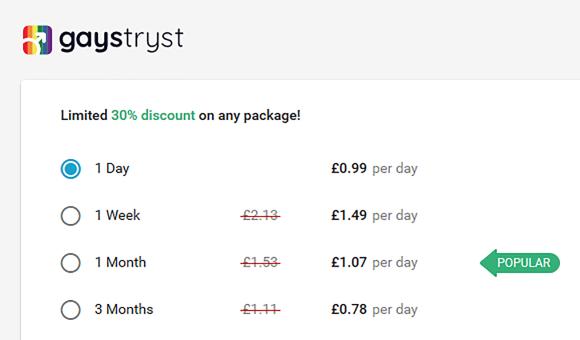 GaysTryst UK Price