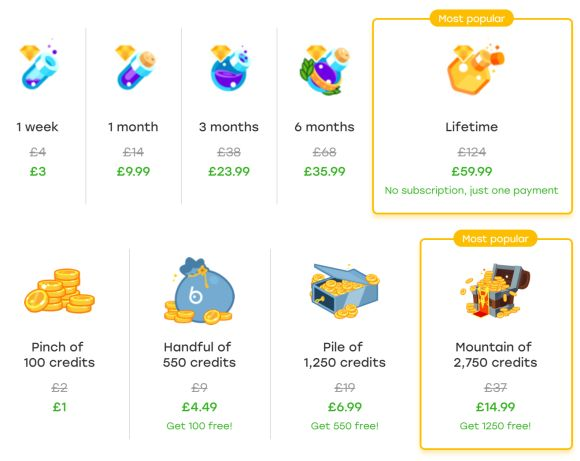 Hot or Not UK prices