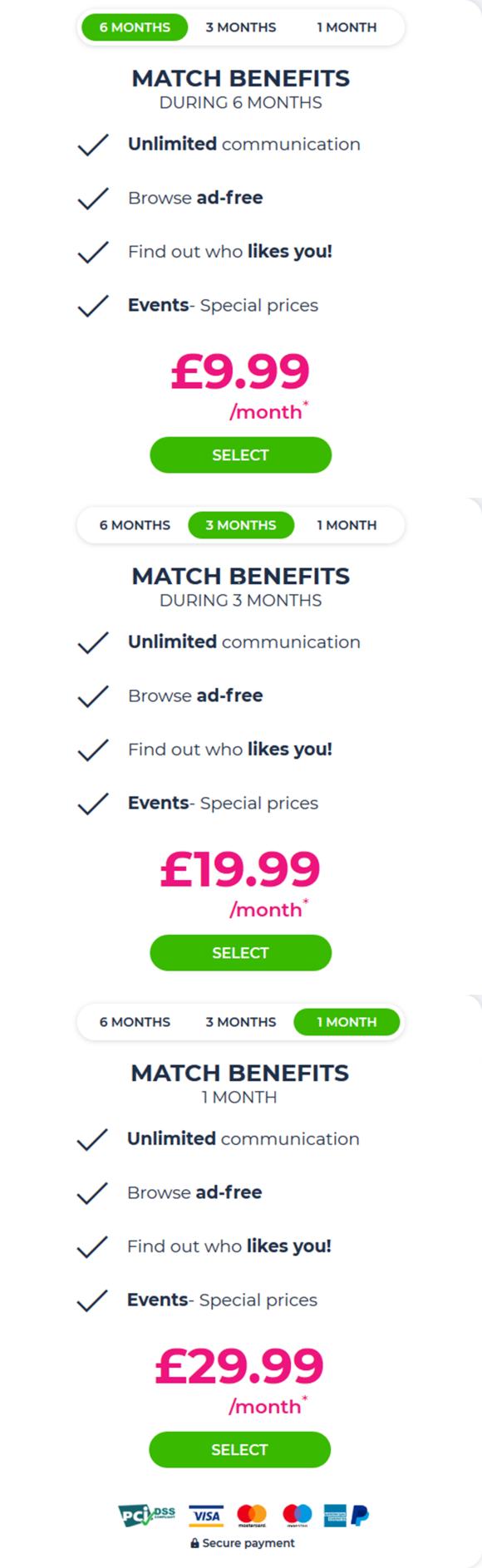Match UK Price
