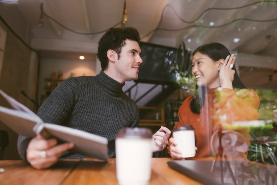 Pick Up Lines Couple in Restaurant