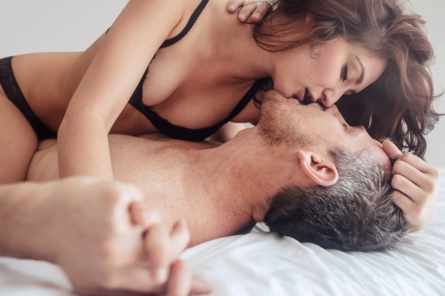 Casual Dating Couple in Bed