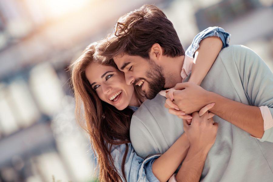 Muslim happy couple