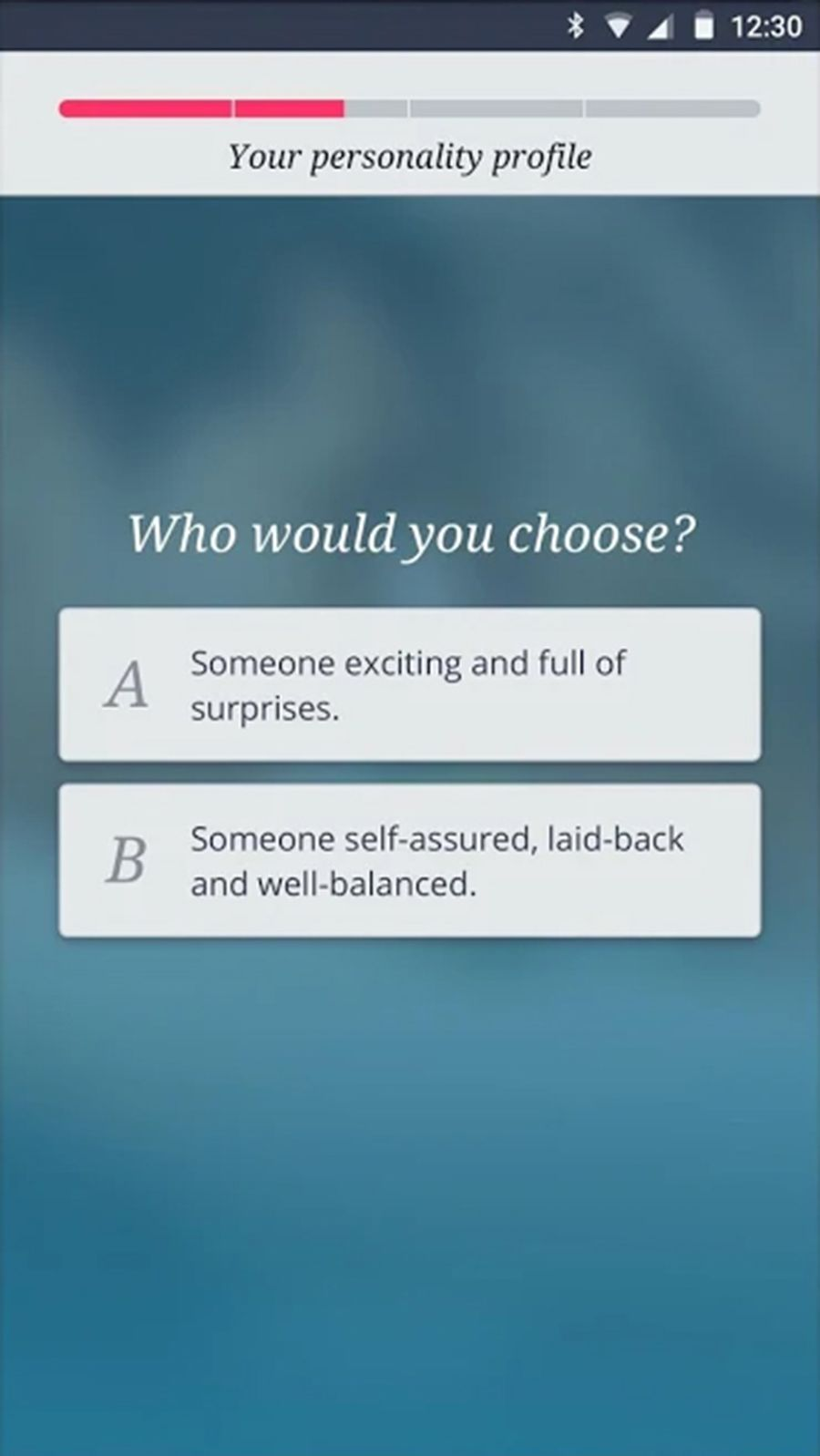 Be2 App Personality Test