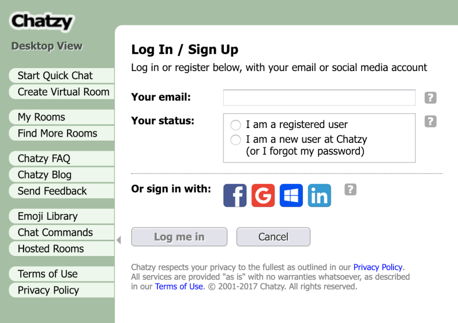Chatzy Signup