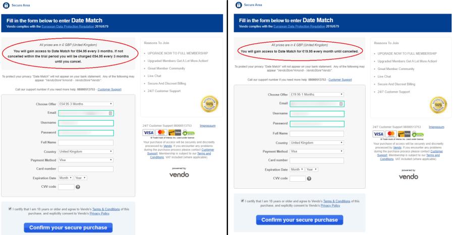 DateMatch Price UK