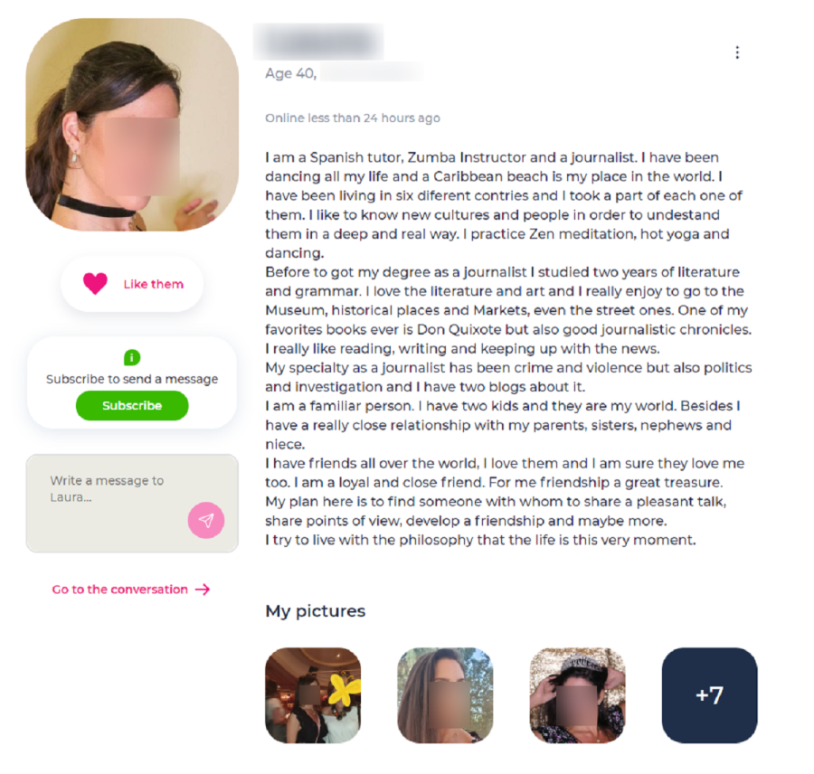 datingdirect profile