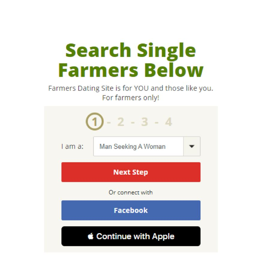 Farmers Dating Site Register