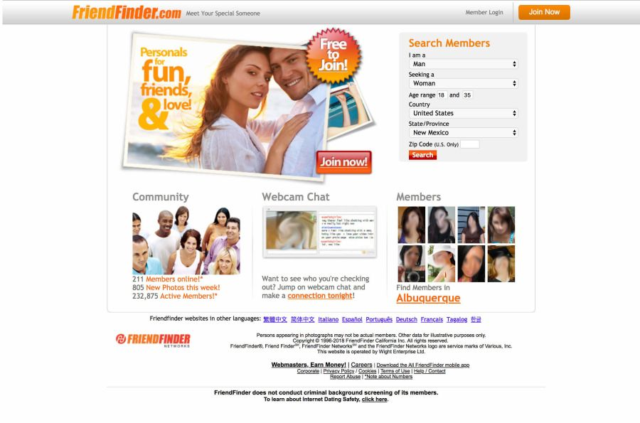 FriendFinder Registration