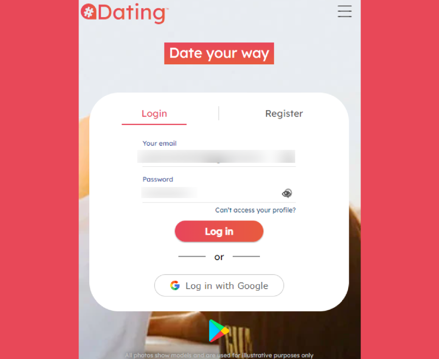 Locanto Dating Signup Page