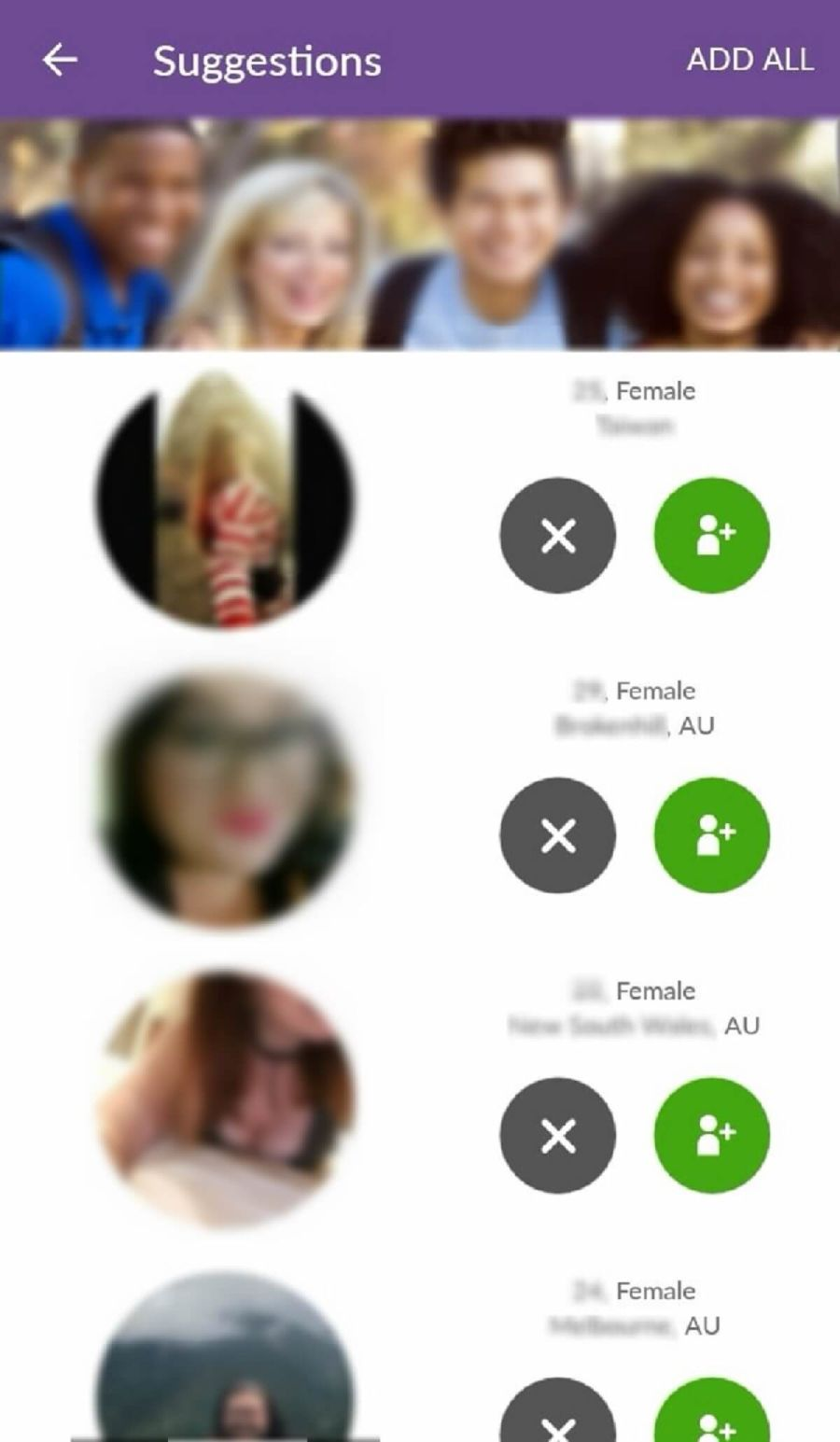 MeetMe Match Suggestions App