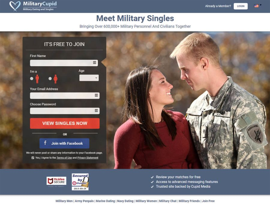 Military Cupid Signup