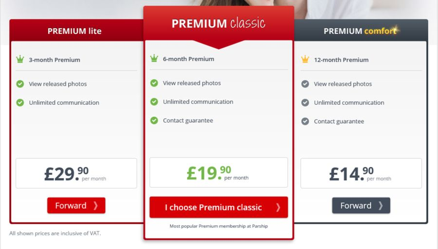 Parship UK Price