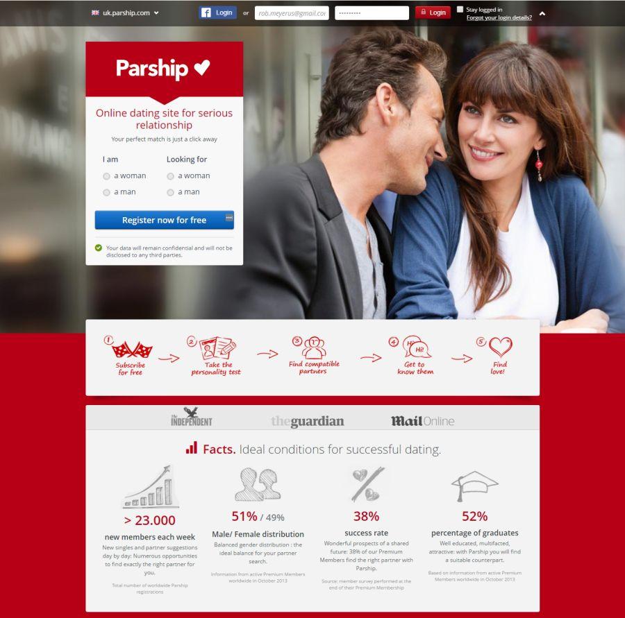Parship Dating Registration