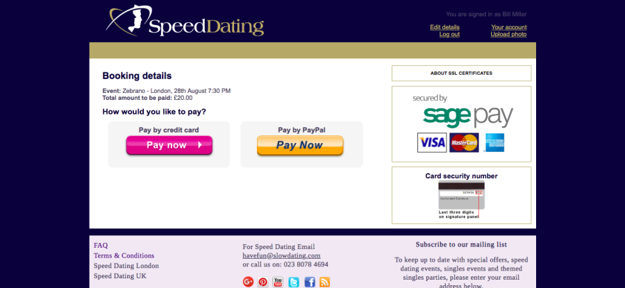 Slow Dating Pricing
