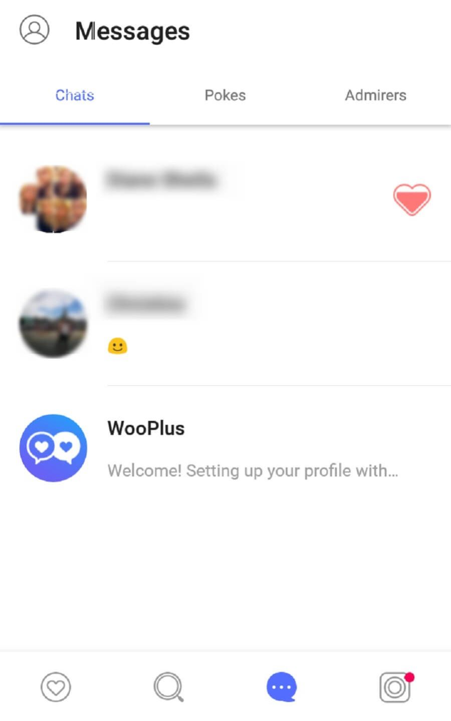 WooPlus Message Inbox