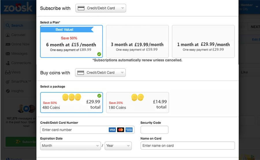 Zoosk Price GB Updated